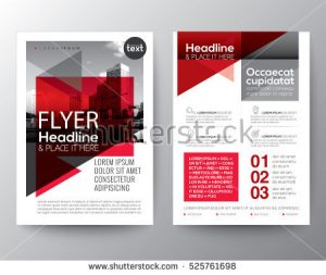 report cover page template stock vector abstract red geometric background for poster brochure flyer design layout vector template