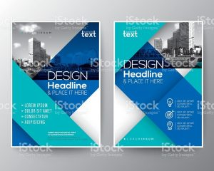 report cover template blue brochure annual report cover flyer poster design layout template vector id