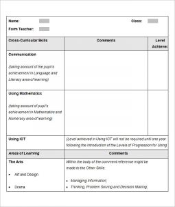 report template word sample school report template in word