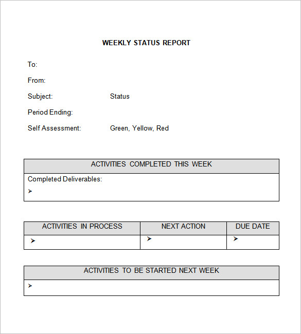 report template word