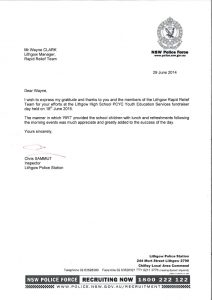 request for donation letter police thank you letter