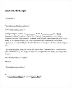request for donations letter charitable donation thank you letter template