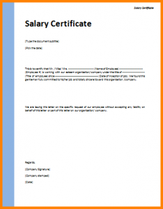 request for donations letter salary certificate