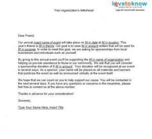 request for donations letter samples of non profit fundraising letters throughout sample sponsorship letter for donations