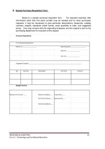 requisition form template k to mechanical drafting learning module