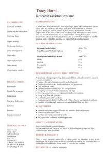 research assistant resume pic student resume