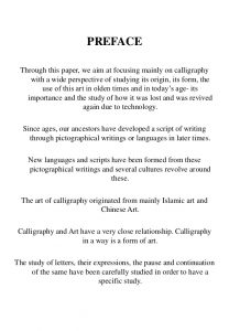 research paper samples calligraphy research thesis