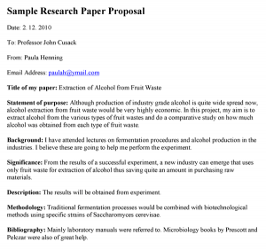 research proposal examples sample research paper proposal