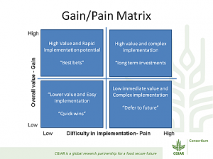 research report example gain pain matrix cgiar dkm workshop
