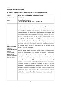 research report example research proposal museum magnet school program
