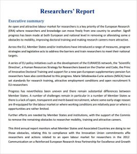 research report format research report example