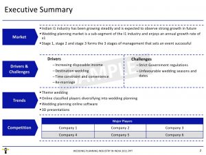 research report template market research report wedding planning industry in india