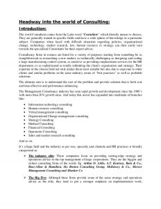 research reports format basic human resource management report on consulting firms