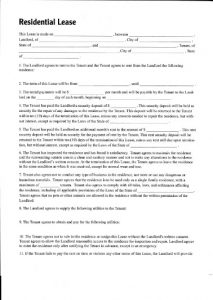 residential rental agreement residential lease
