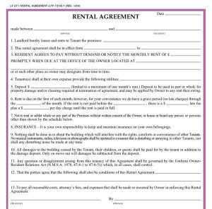 residential rental agreement residential lease agreement template