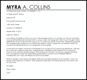 resignation letter email resignation letter due to pregnancy