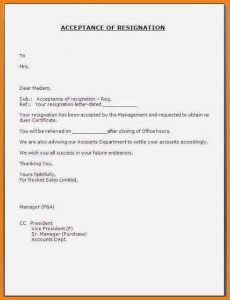 resignation letters examples accepted resignation letter format resignationacceptanceletter jpg