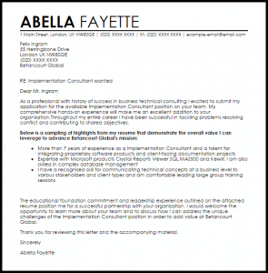 resignation letters examples implementation consultant