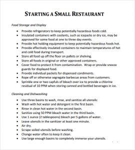 restaurant business plan restaurant business plan template 8941