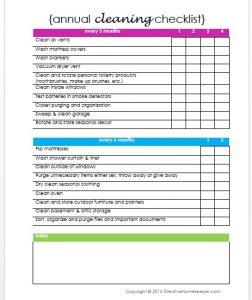 restaurant cleaning checklist annual cleaning checklist