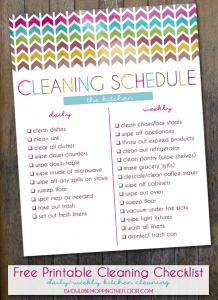 restaurant cleaning checklist kitchen cleaning schedule