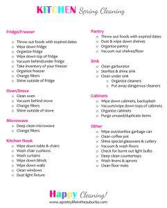 restaurant cleaning checklist kitchen spring cleaning checklist