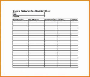 restaurant inventory sheet inventory sheet pdf general restaurant food inventory sheet pdf free download