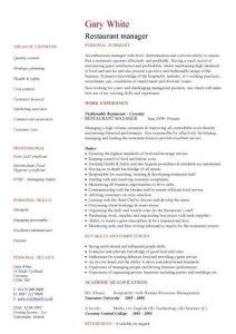 restaurant manager resume pic restaurant manager cv template