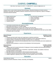 restaurant manager resume unforgettable general manager resume examples to stand out throughout restaurant management resume