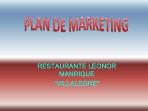 restaurant marketing plan plan de marketing restaurante leonor tarea gobal mtu