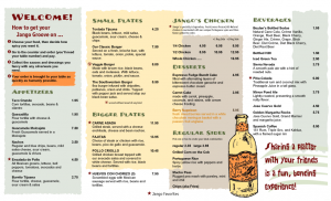 restaurant menu sample restaurant menu design samples