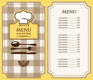 restaurant menu template free b