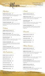 restaurant menu templates menu design template