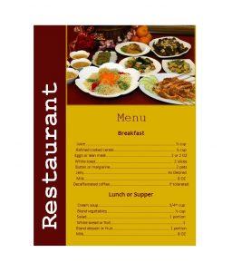 restaurant menu templates menu templates