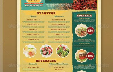 restaurant menu templates restaurant menu template