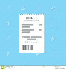 restaurant receipt template receipt icon flat style isolated colored background invoice sign bill atm template restaurant paper financial check