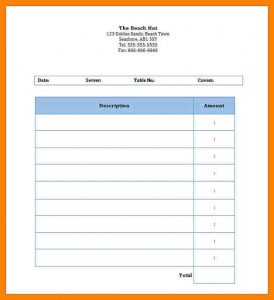 restaurant receipt template restaurant invoice template word restaurant dining blank invoice template