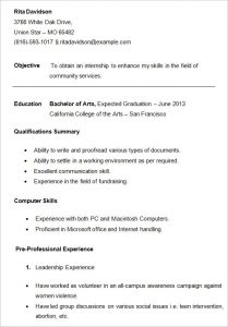 resume examples for college students college student resume template