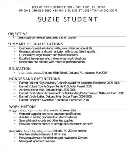 resume examples for highschool students simple high school student resume