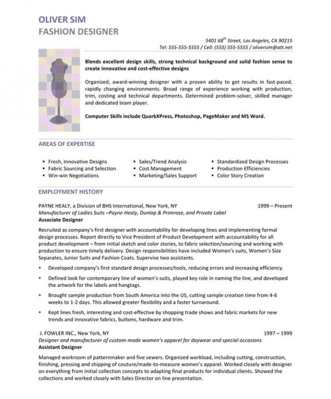 resume for a highschool student