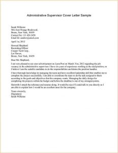 resume for college application a cover letter sample administrative supervisor cover letter sample