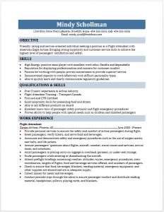 resume for flight attendant flight attendant resume