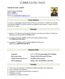resume for freshers best resume format for freshers
