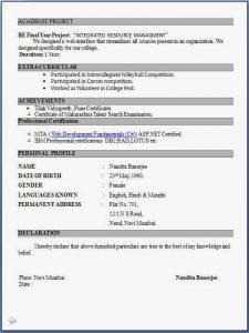 resume for freshers engineer fresher resume format