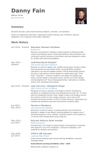 resume for high school senior educationoutreachfacilitatorresume example