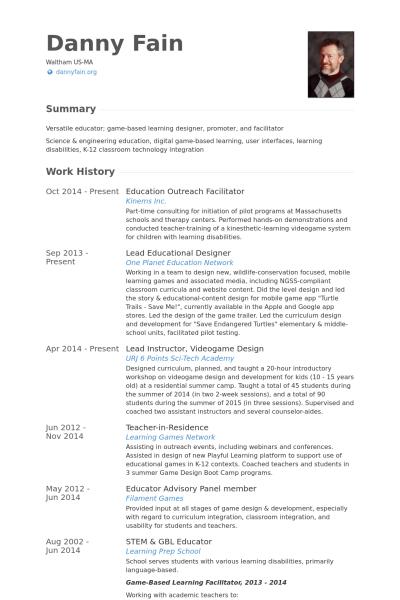 resume for high school senior