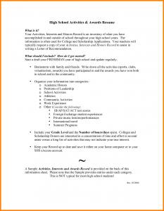 resume for high school senior high school senior academic resume examples