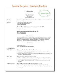 resume for high school senior sample graduate student resume