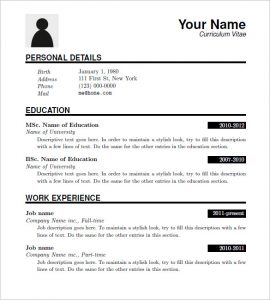 resume format download free latex resume templates download