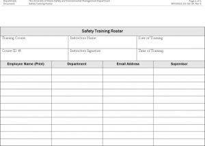 resume formats download safety training roster template